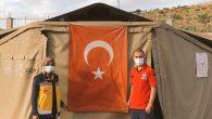 Hatay-Suriye sınırındaki sahra hastanesi nöbetçileri