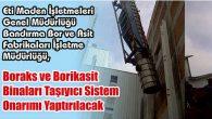 Boraks ve Borikasit Binaları Taşıyıcı Sistem Onarımı Yaptırılacak